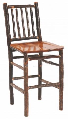 "Hickory 24"" Hickory Seat Counter Stool"