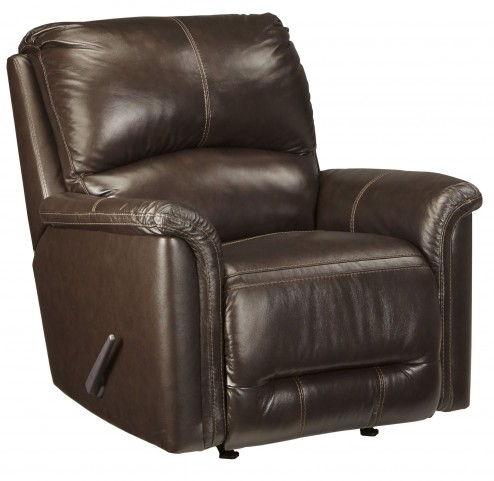 Lacotter Chocolate Rocker Recliner