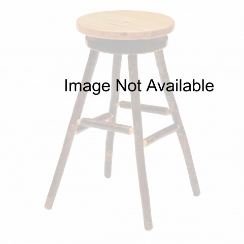 "Hickory Rustic Alder Seat 30"" Swivel Round Bar Stool"