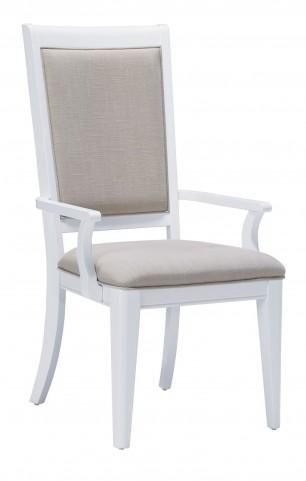 Brighton White Arm Chair Set of 2