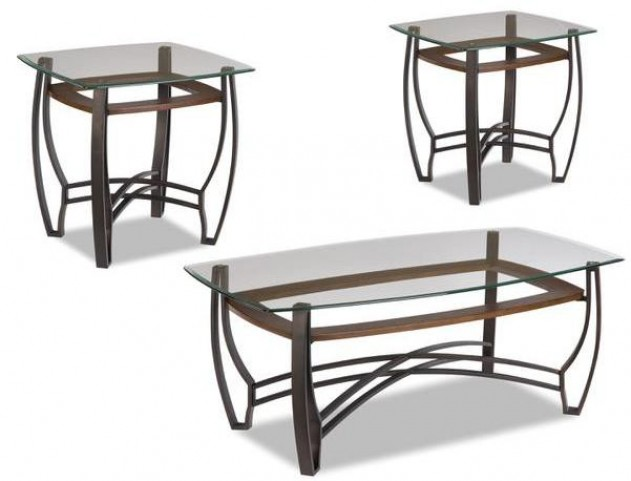 Glass Top Occasional Table Set