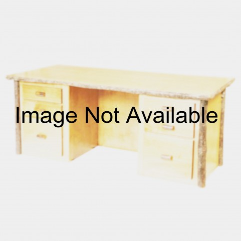 Hickory Rustic Alder Armor Executive Desk