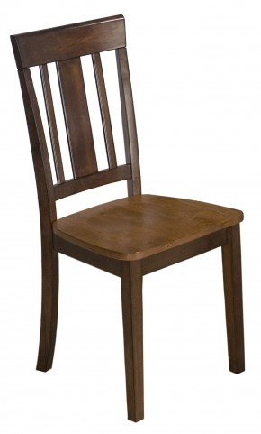 Kura Espresso and Canyon Gold Dining Chair Set of 2
