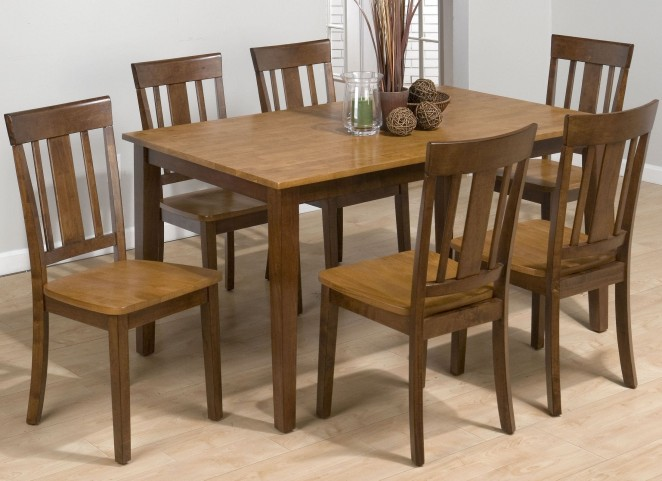 Kura Espresso and Canyon Gold Dining Room Set