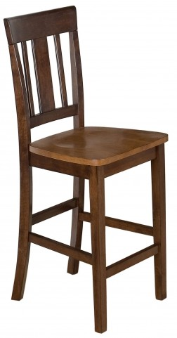 Kura Espresso and Canyon Gold Counter Height Stool Set of 2