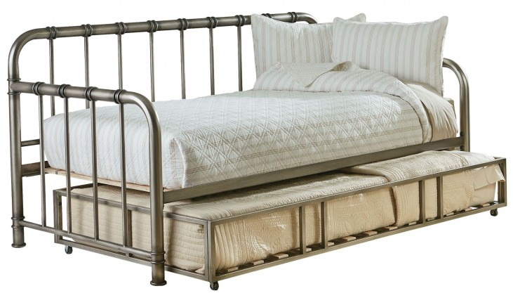 Tristen Antique Pewter Twin Trundle Daybed