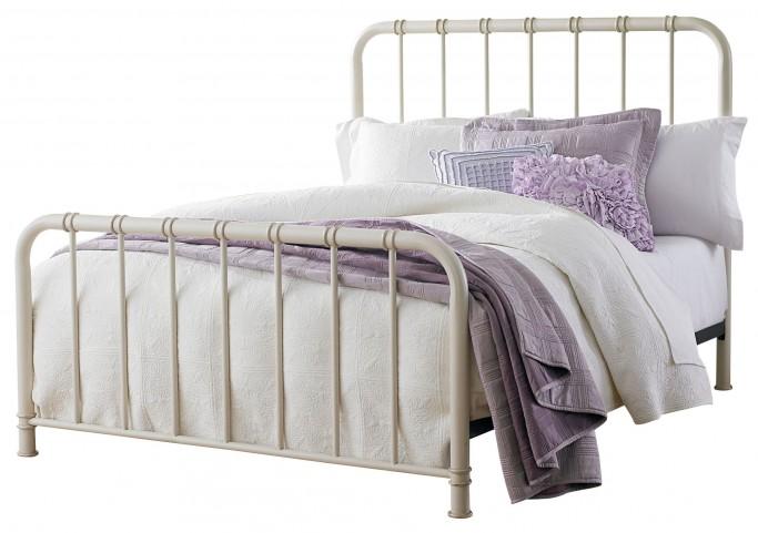 Tristen White Queen Metal Bed