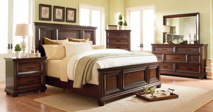 Vineyard Casual Tobacco Panel Bedroom Set
