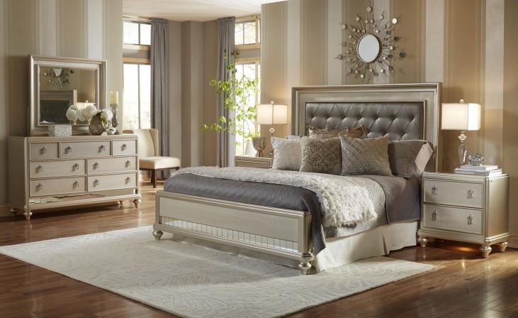 Diva Metallic Panel Bedroom Set