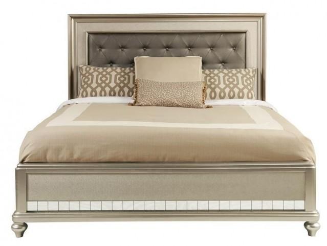 Diva Metallic King Panel Bed