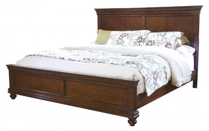 Essex Dark Merlot King Panel Bed