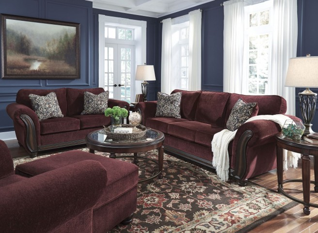 Chesterbrook burgundy living room set 8810238 ashley for 17 x 14 living room