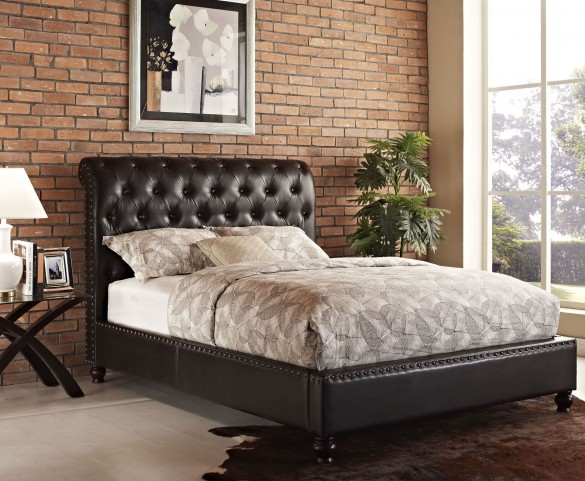 Stanton Bed-N-Box Brown Queen Upholstered Bed