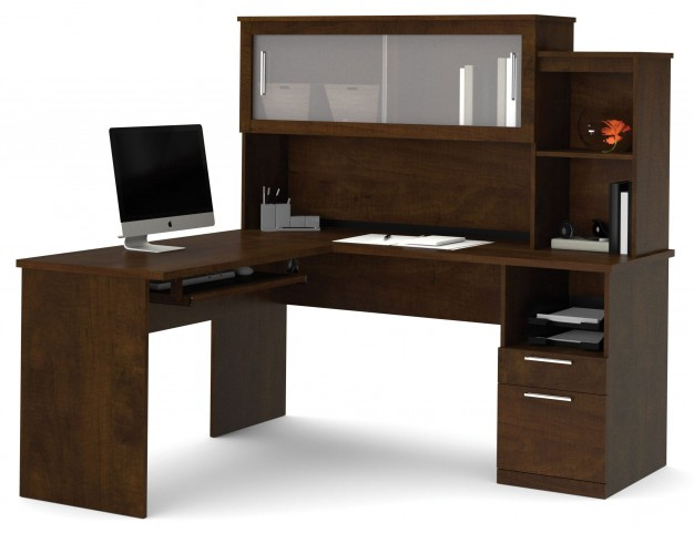 Dayton Chocolate L-Shaped Desk