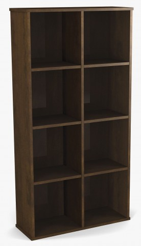 Dayton Chocolate Cubby Bookcase