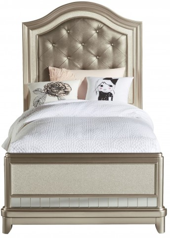 Li'l Diva Twin Upholstered Panel Bed