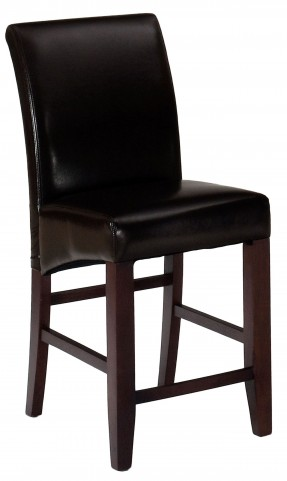 Bonded Leather Counter Height Stool Set of 2