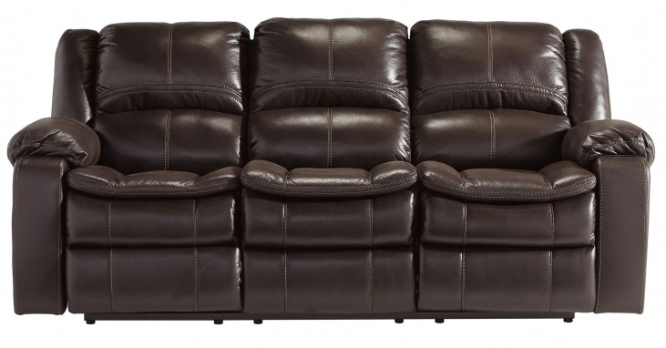 Long Knight Brown Reclining Sofa