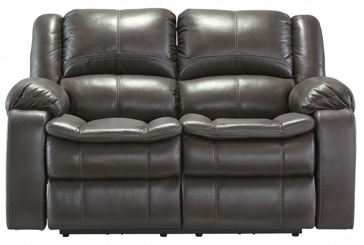 Long Knight Gray Reclining Loveseat