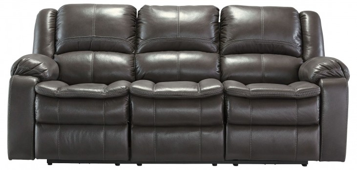 Long Knight Gray Reclining Sofa