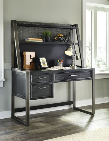 Graphite Desk with Hutch