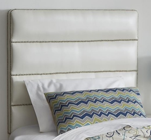 Jordan Pearl Twin Upholstered Headboard