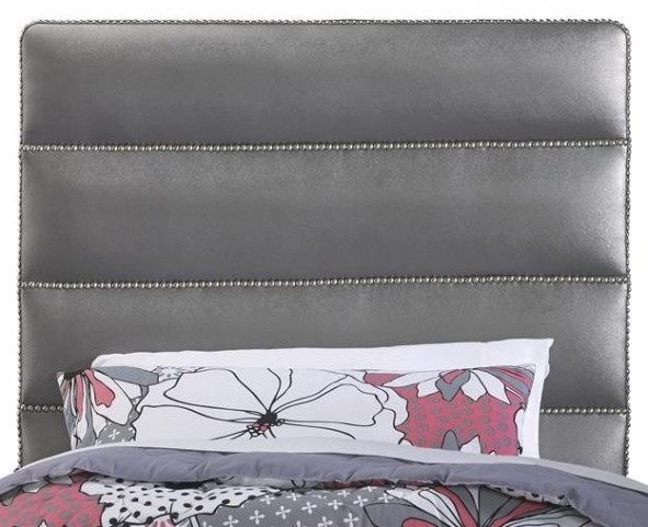 Jordan Silver Full Upholstered Headboard