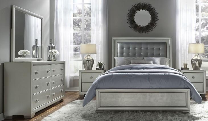 Celestial Upholstered Panel Bedroom Set