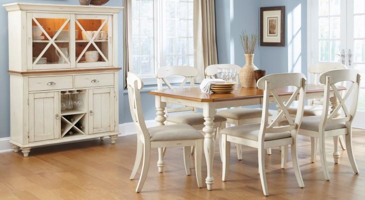 Ocean Isle Rectangular Leg Dining Room Set