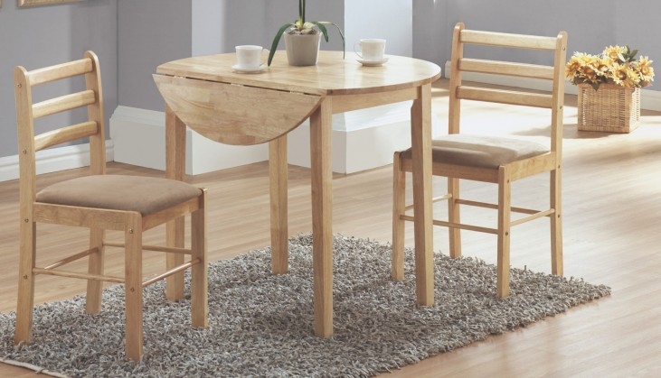 1006 Natural 3Pcs Drop Leaf Dining Set