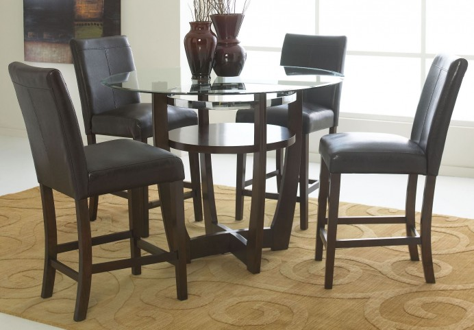 Apollo Rich Merlot Counter Height Round Dining Room Set