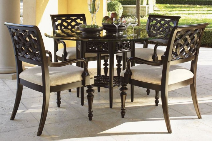 "Royal Kahala 60"" Sugar And Lace Round Dining Room Set"