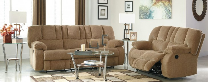 Roan Mocha Reclining Living Room Set
