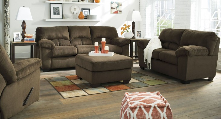 Dailey Chocolate Living Room Set