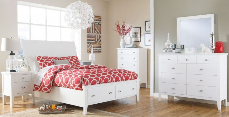 Langlor Sleigh Storage Bedroom Set