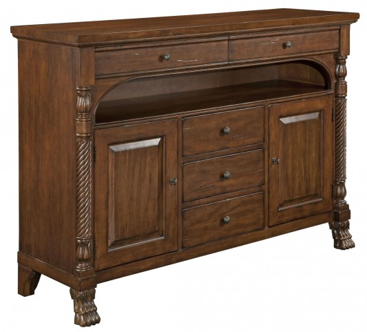 Artisans Shoppe Molasses Linden Credenza