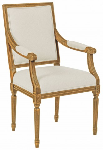Artisans Shoppe Antique Caramel French Arm Chair Set of 2