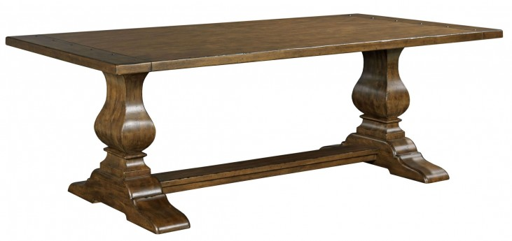 "Artisans Shoppe 72"" Tobacco Rectangular Dining Table with Wood Base"