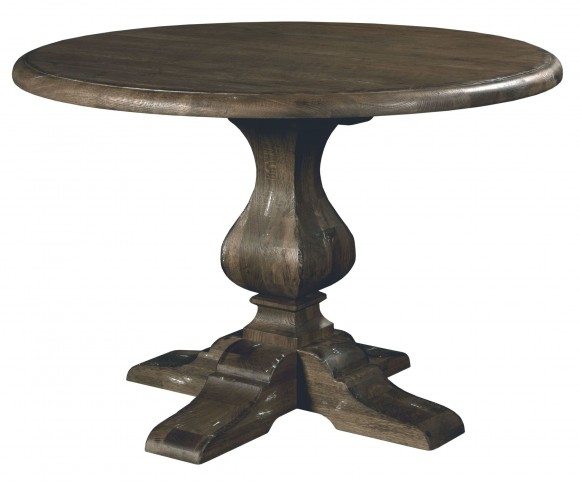 "Artisans Shoppe 44"" Black Forest Round Dining Table with Wood Base"