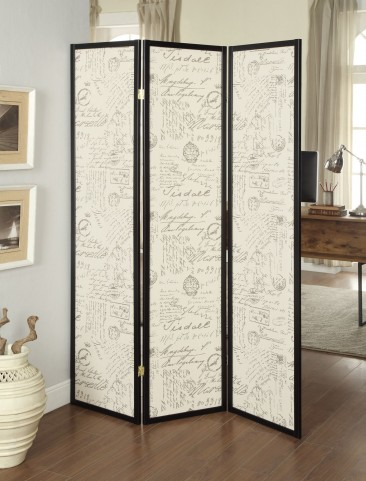 900074 3 Panel Espresso Folding Screen