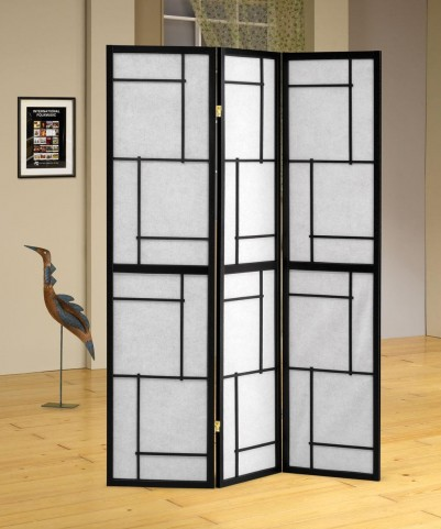 Black Folding Screen 900102