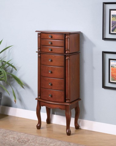 Warm Brown Jewelry Armoire 900125