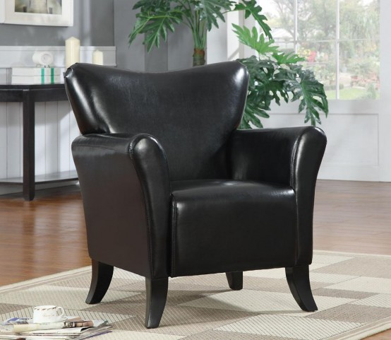 Black Accent Chair 900253