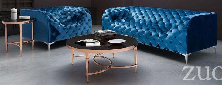 Providence Neon Blue Velvet Living Room Set
