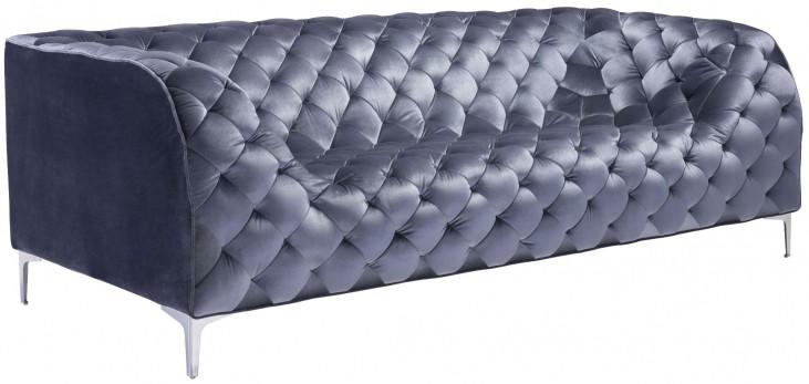 Providence Gray Velvet Sofa