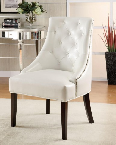 White Accent Chair 900283
