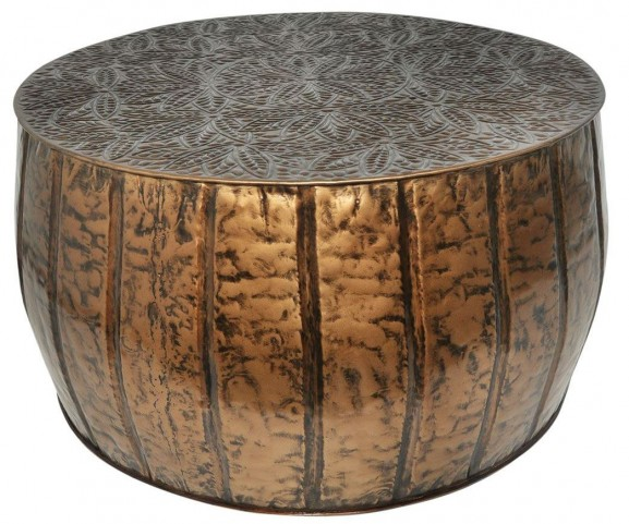 Antique Brass Handcrafted Accent Table
