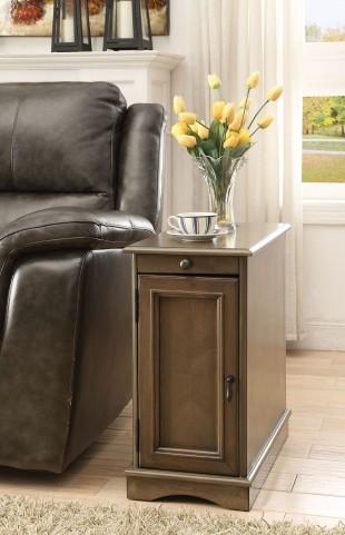 Ashy Brown Door Chairside Table