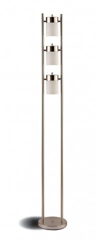 Silver Metal Floor Lamp 900733