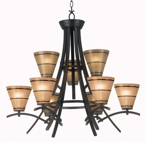Wright 9 Light Chandelier